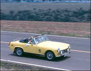MG Midget in Mexico