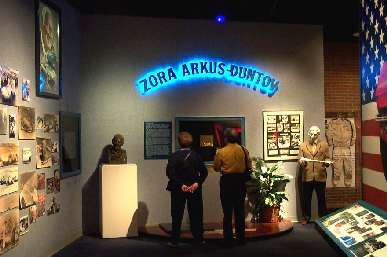 Zora Arkus Dunton dispaly at Corvette museum
