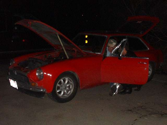 when this mgb had a headlight switch failure in the late night darkness,  the logical thing to do was to jumper the wiring harness and drive it home