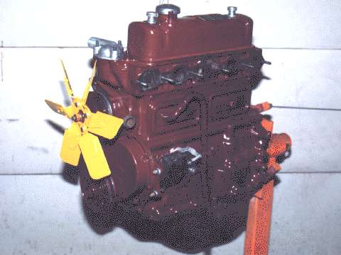MG engine on stand