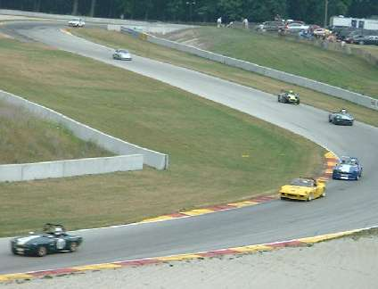 MGs in Group 8 on turns 6 and 7 at Road America