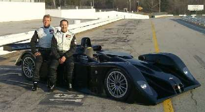 Steve Knight and Mel Hawkins with MG Lola 675 LMP